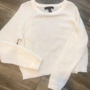 Forever 21 F21 White Sweater - Gently Used Size M